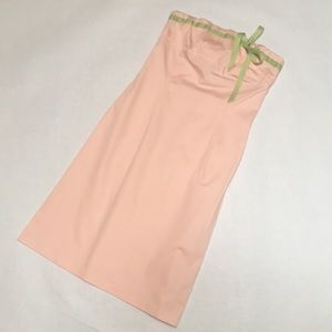 Anthropologie Dresses - Anthropologie Ruth Strapless Pink Green Dress 8